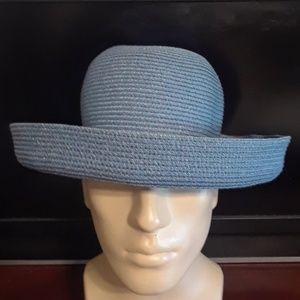 Betmar new York womans blue brim sun derby hat